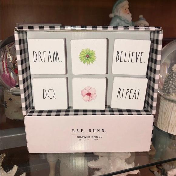 Rae Dunn Drawer Knobs Set of 6